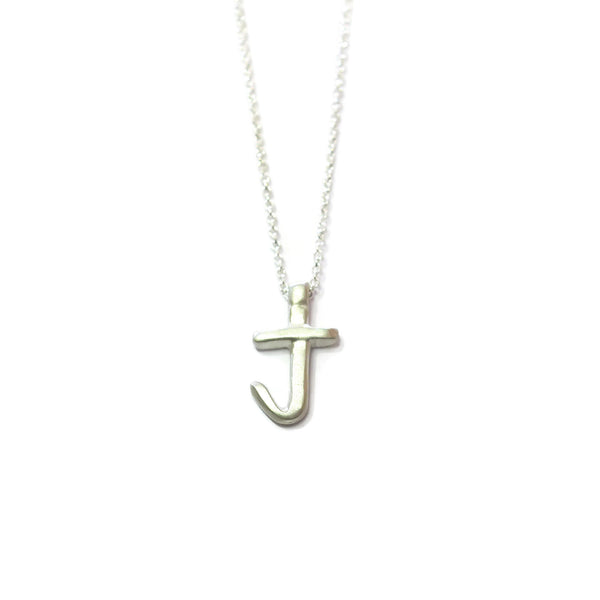 J - handwritten letter necklace