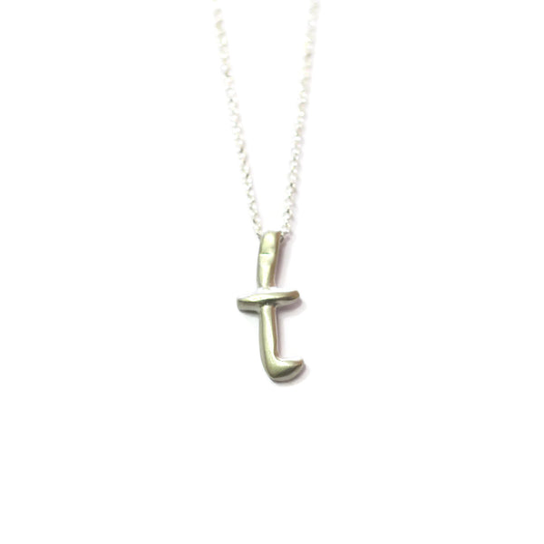 T - handwritten letter necklace