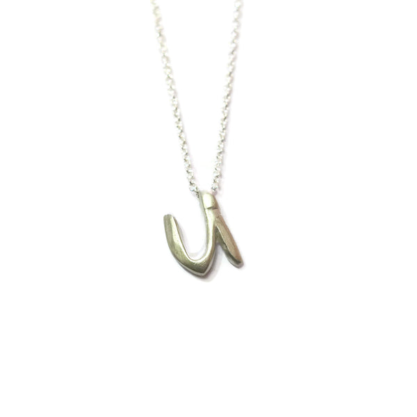 U - handwritten letter necklace