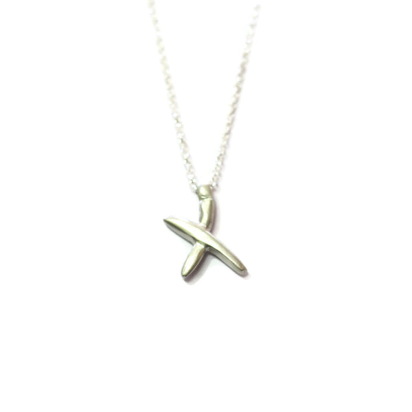 X - handwritten letter necklace
