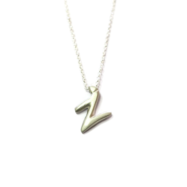 Z - handwritten letter necklace
