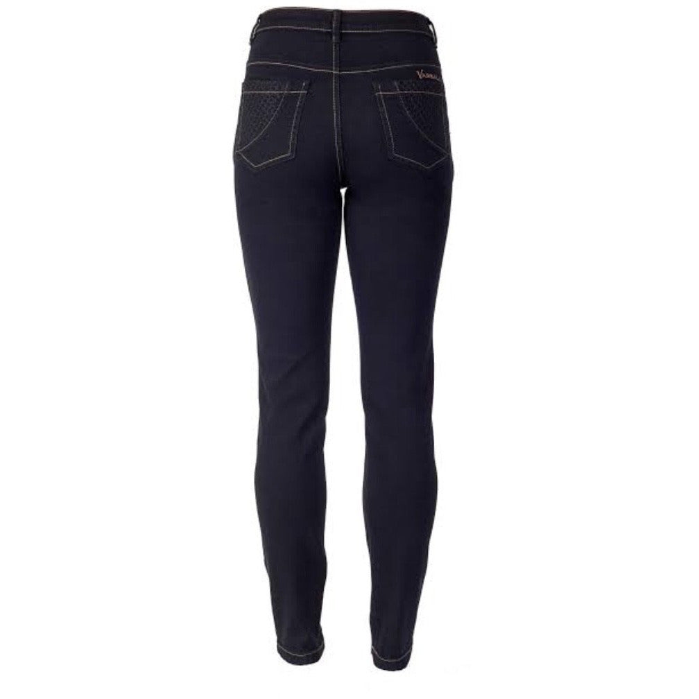 5535 Vassalli basket weave jean black denim - By Design Fashions