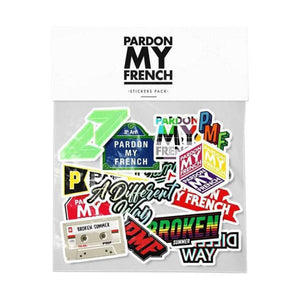 PARDON MY FRENCH STICKERS PACK NEW