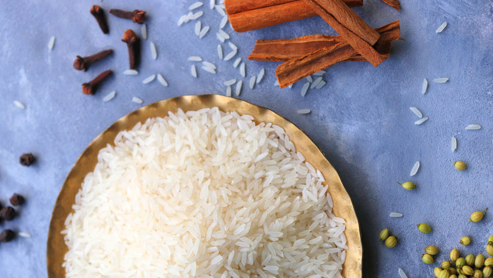 Basmati rice with cinnamon and cloves
