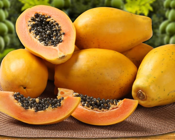 Baked Stuffed Papaya