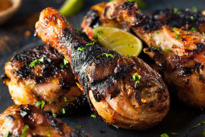 baked or grilled chicken made with garlic and spices