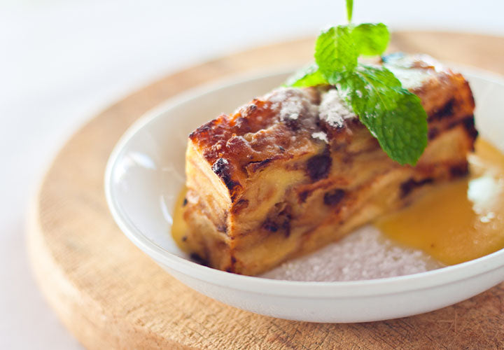 Bread pudding in bowl