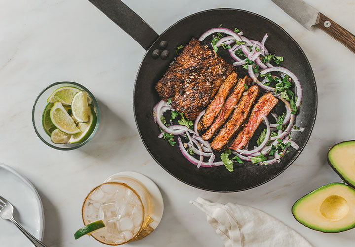 carne asada steak with onions and cilantro