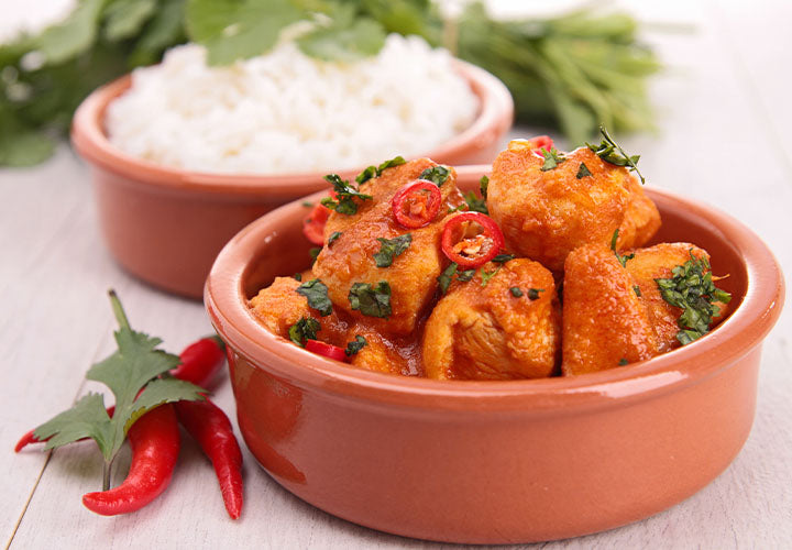 Chicken with Coconut Red Curry Sauce