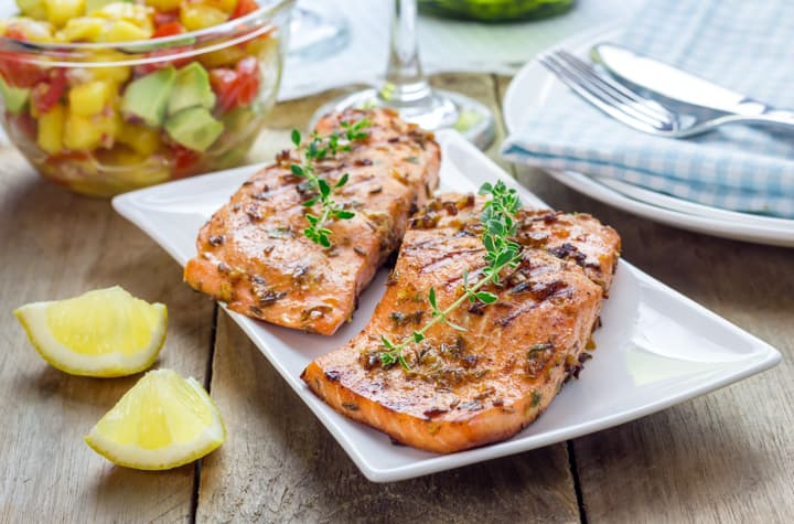 Cumin Dusted Salmon Fillets