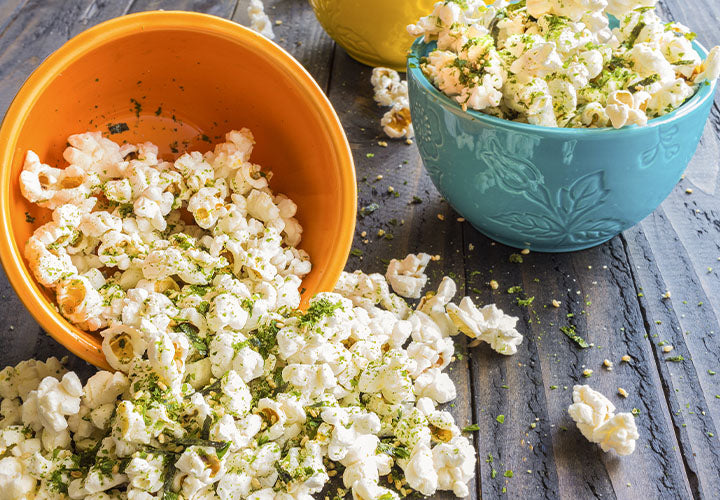 Popcorn with Dill Pickle Seasoning