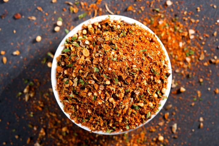Spice rub for salmon and pork made with real paprika