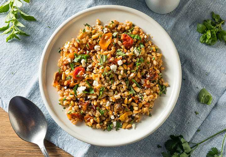 Farro and Roasted Vegetable Salad