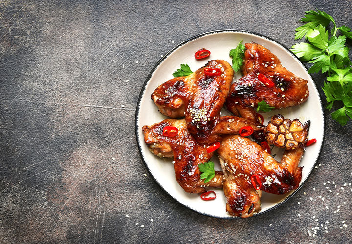 Grilled Harissa Honey Chicken Wings
