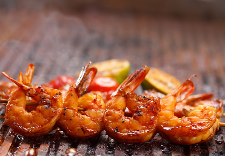Harissa Lemon Grilled Shrimp