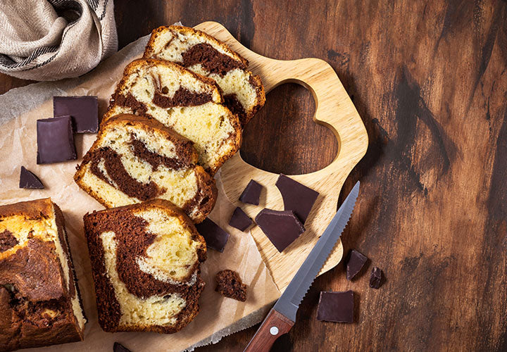 Hot Cocoa Marble Pound Cake