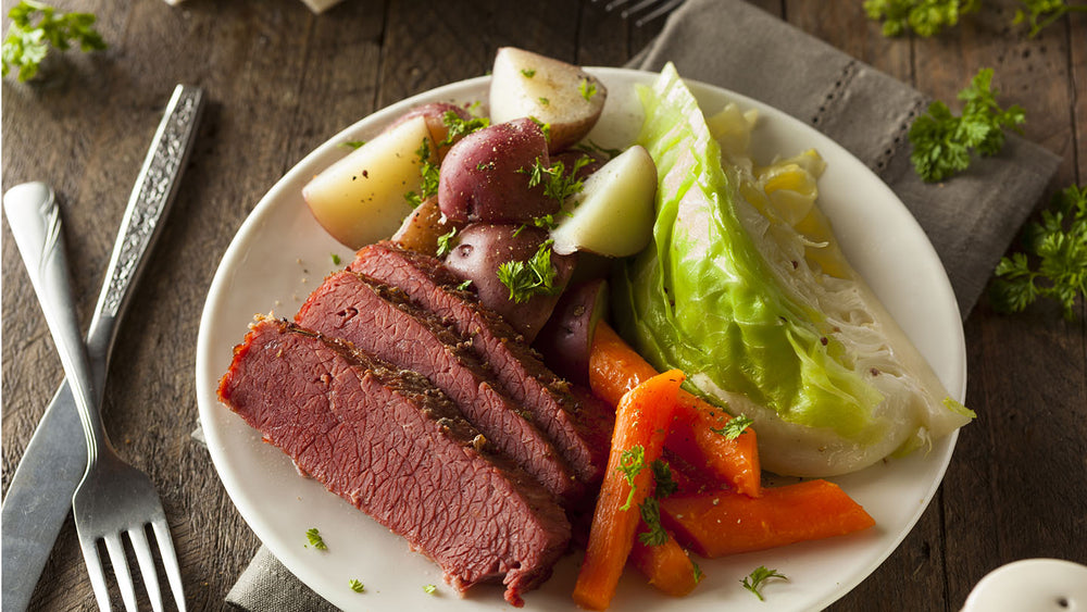 Corned Beef with Cabbage, Carrots, and Potatoes