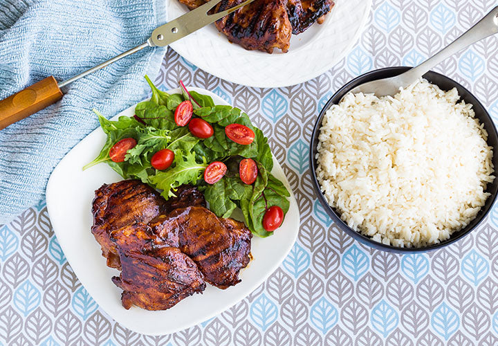 Moroccan Grilled Chicken Thighs