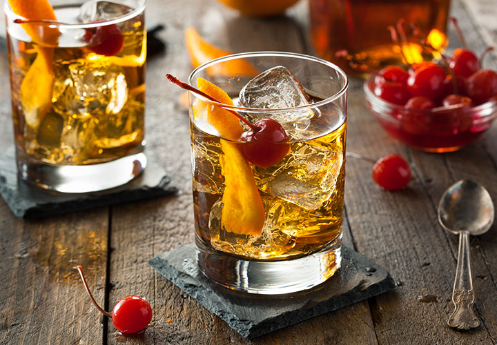 Old Fashioned Cocktail with vanilla
