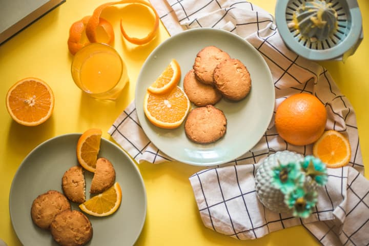 Orange Blossom Sugar Cookies