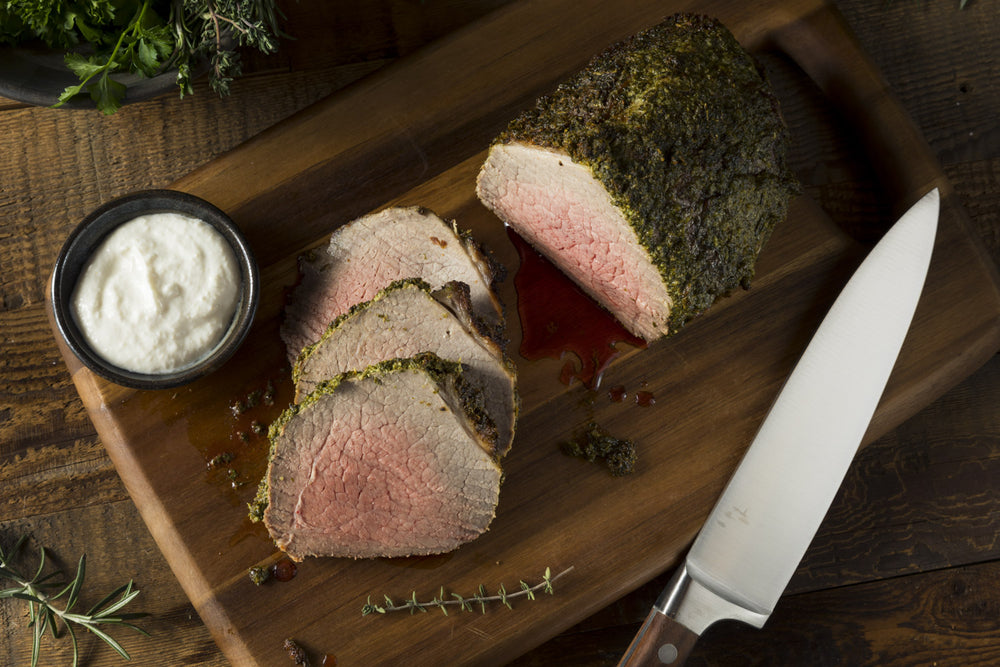 Pepper-Crusted Beef Tenderloin with Horseradish Sauce