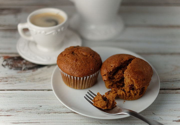 Homemade pumpkin muffins seasoned with pumpkin spice.