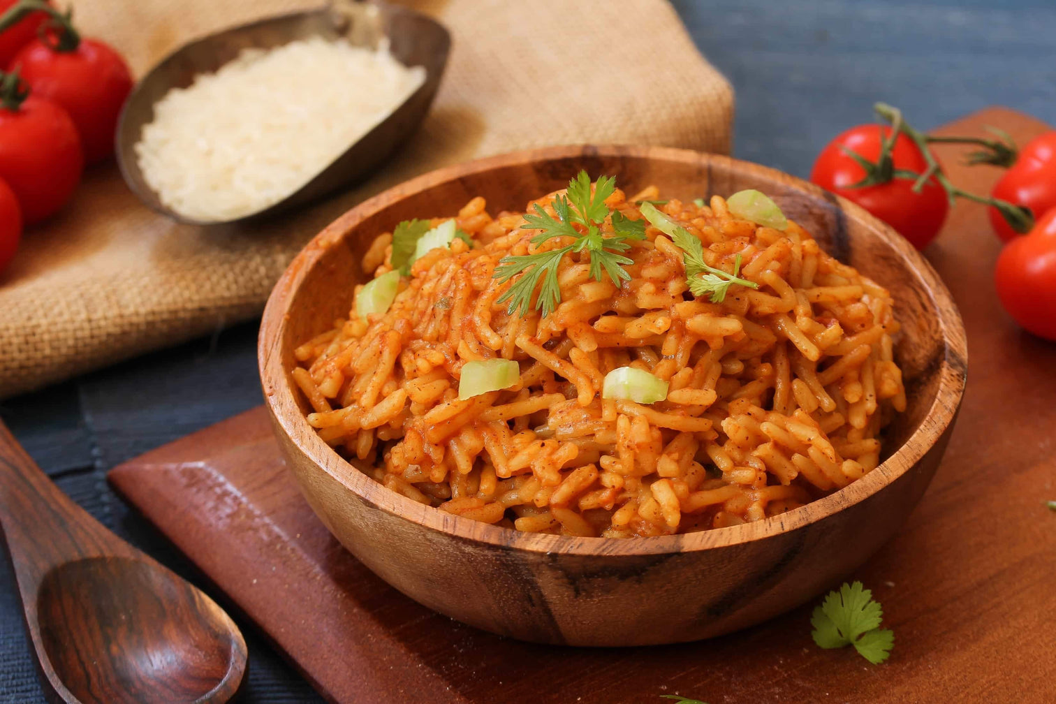 Savory Spanish rice in a bowl made with paprika