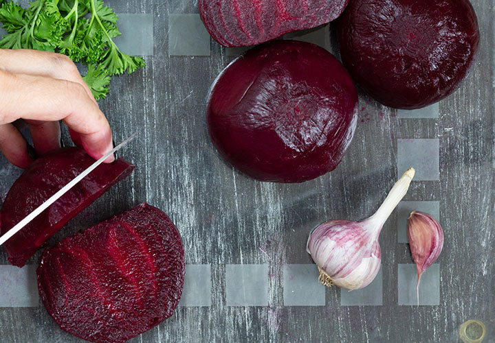Steamed Beets with White Wine