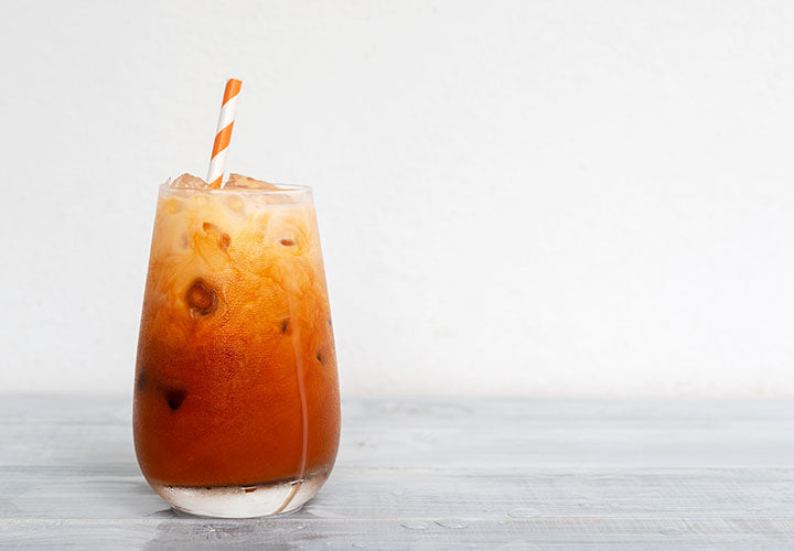 Creamy and cold Thai iced tea made with spices.