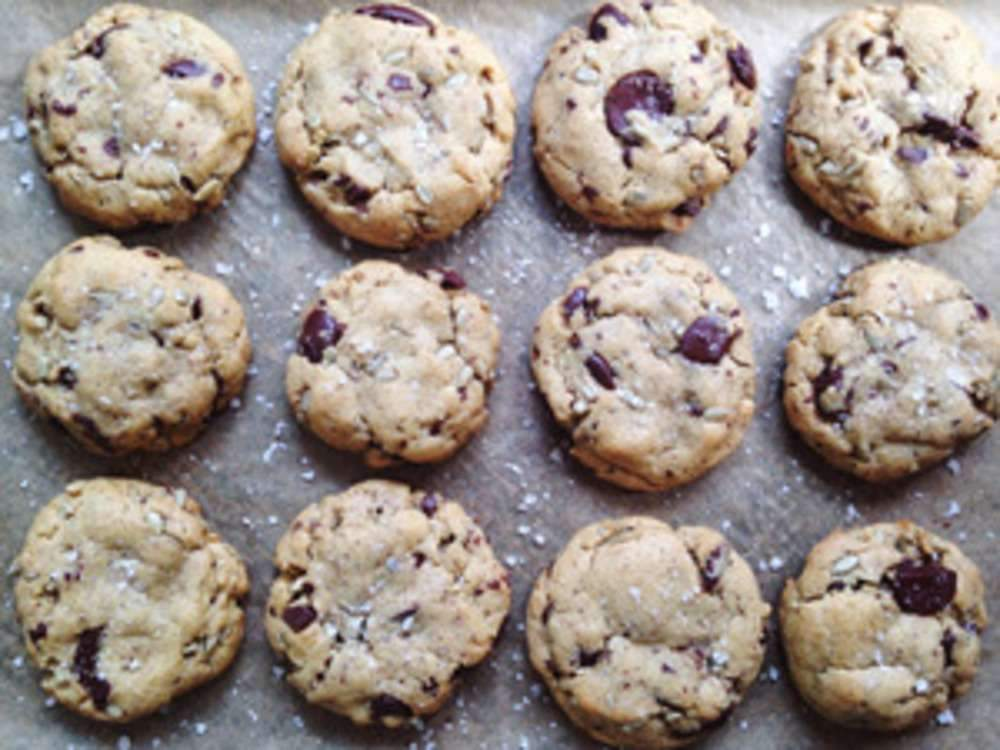 Dark Chocolate, Sunflower Seed & Sea Salt Cookies
