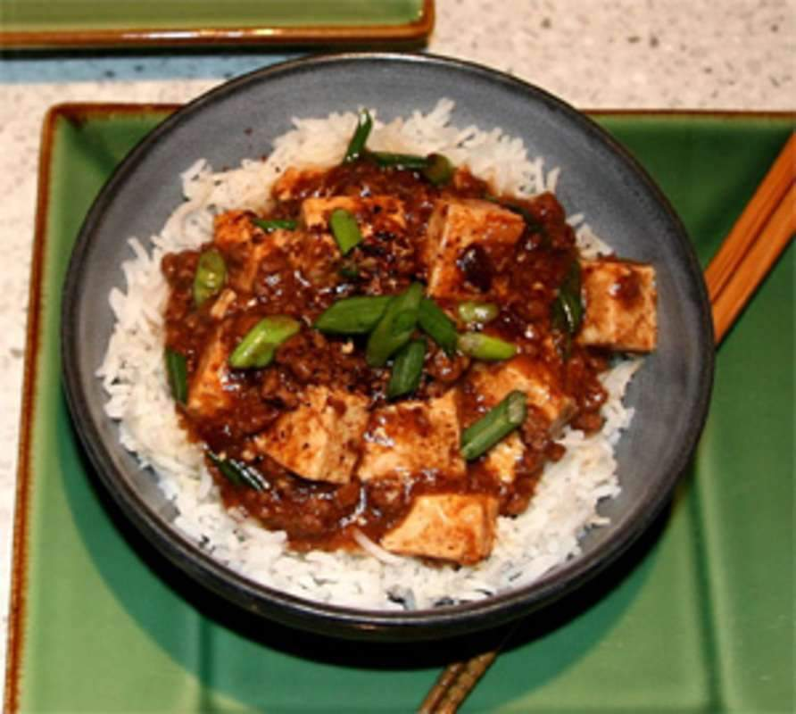 Spicy Tofu with Beef and Szechuan Peppercorns