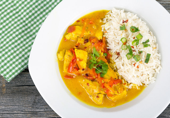 Easy Thai chicken curry made in one pot.