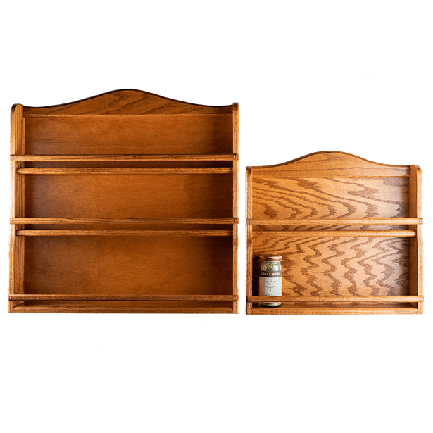 Spice Rack, Stained Oak