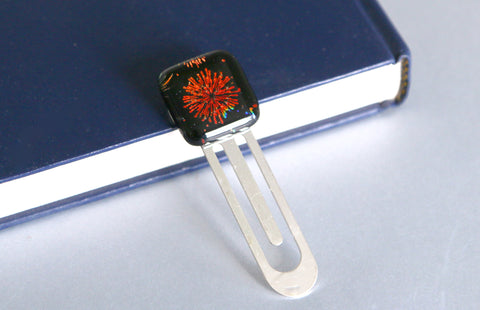 Fireworks Book Mark Dichoric Glass