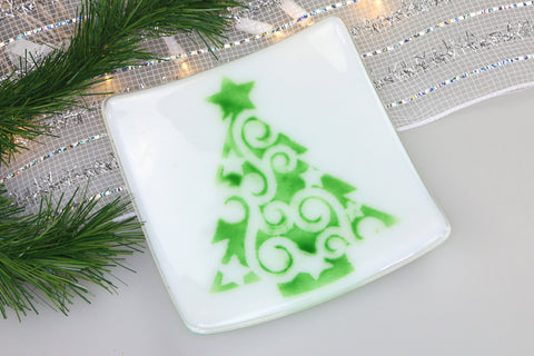 Christmas Tree Dish Trinket Dish