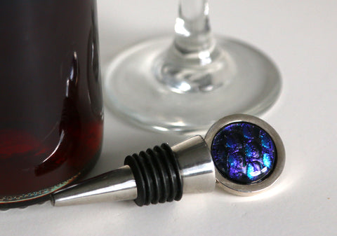 Wine Stopper with Dicrhoic Fused Glass