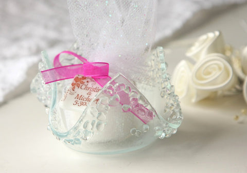 Wedding Favors Glass Votive Candle  Holder Candy Dish