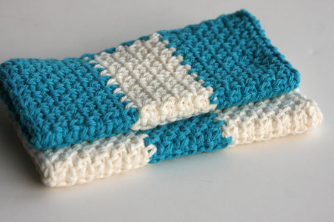Crochet Wash Cloths 100% Cotton for Bath or Kitchen
