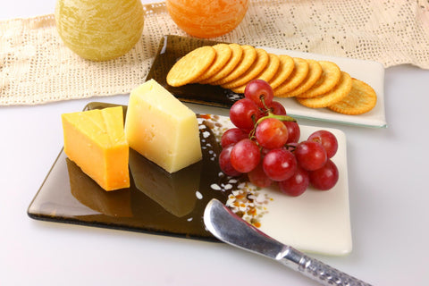 Rolling Hills Cheese Board and Cracker Tray