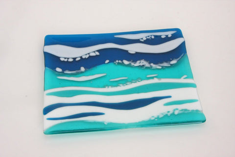 Ocean Waves Serving Dish Plate Platter