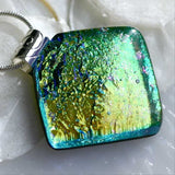 Liquid Gold Dichoric Glass Pendant