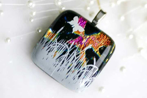 Butterfly in the Grass Dichroic Pendant