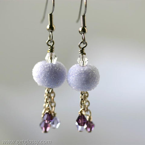 Lavender Sugar Drop Earrings