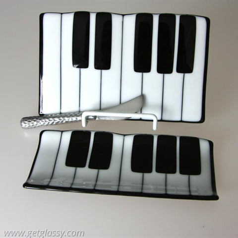 Piano KeyBoard Cheese Board and Cracker Tray Set