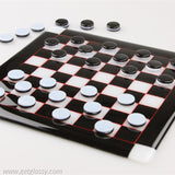 Checkers in Glass
