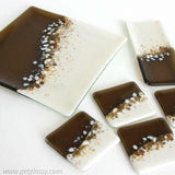Rolling Hills Fused Glass Coasters