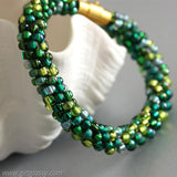 Kumihimo Bracelet in Forest Green