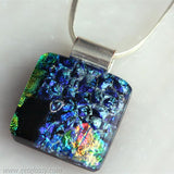 Necklace Pendant Layered Dichroic Glass