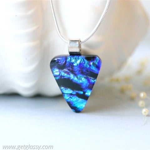 Blue Arrowhead Necklace Pendant Layered