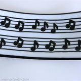 Music Notes Fused Glass Serving Platter